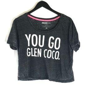 Mean Girls Glen Coco Grey Crop Short Sleeve Top